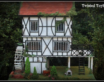 3mm Ply Wood wooden Tudor Water Mill 1:24 kit