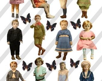Digital Collage Sheet Children (Sheet no. F24) Instant Download