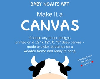 Canvas Print - Canvas Wall Art, Wrapped Canvas, Nursery Decor, Nursery Art, Kids Room Art, Baby Shower Gift