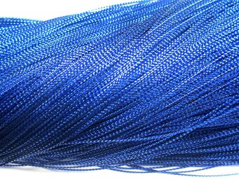 100 m blue metallic thread woven 0.8 mm