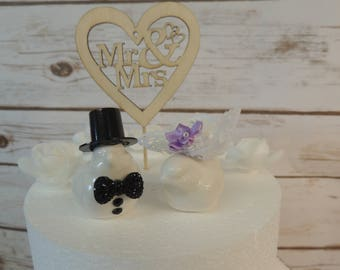 Lovebird Wedding Cake Topper. FREE shipping in the US.