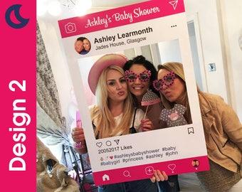 Personalised Social Media Instagram New Style pink Frames