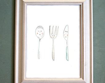 Kitchen Friends. Print