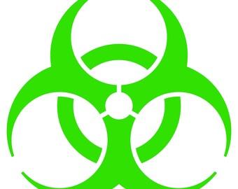 BioHazard Decal 2 Pack - Bio Hazard Symbol Stickers - Choose Color & Size
