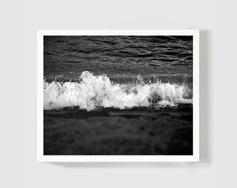 Black and White Photography 8x10 Nautical Minimal Art Picture For Your Home Walls / Bedroom / Living Room / Black Sea / Ocean Photo