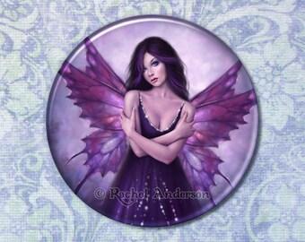 Mirabella Purple Butterfly Fairy Pocket Mirror