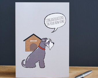 New Home schnauzer card