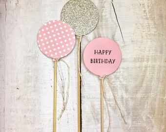 Balloon cake topper - set of 3