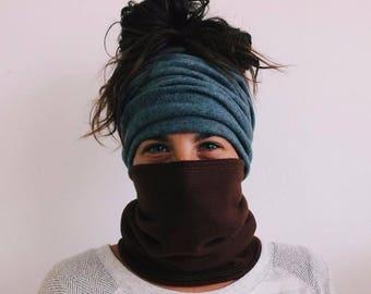 Fleece Mask / Headband / Neck Gaiter / Fleece Headband, Cycling Mask, Face Mask, Warmer, Cold Weather, Sport Headband, Yoga Headband, Fleece