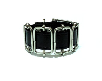 Superellipse Cuff. Leather Bracelet