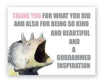 Triceratops Thank You Card
