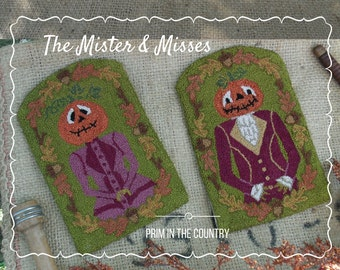 The Mister and Misses Punch Needle Pattern
