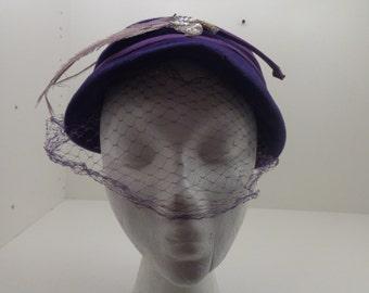 Vintage Deep Purple Hat
