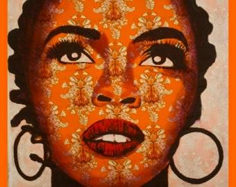 Lauren Hill Orange 32X32