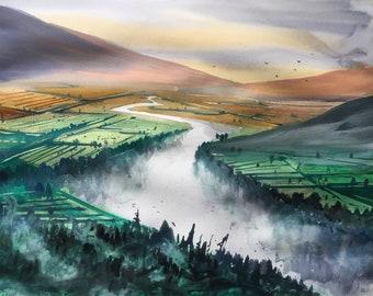 Original Watercolor Painting  | Landscape painting |  Watercolor painting |Original painting | Original art | Wall decor | art