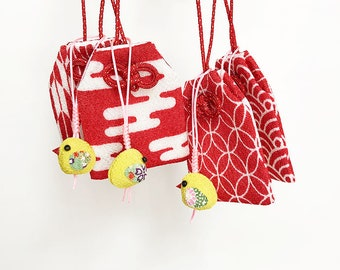 Omamori - Japanese Lucky Charm with Chick Phone Strap