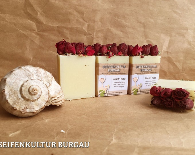 """Featured listing image: Romantic soap """"Winter Rose"""", palm oil free"""
