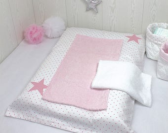 Diaper set white and pink