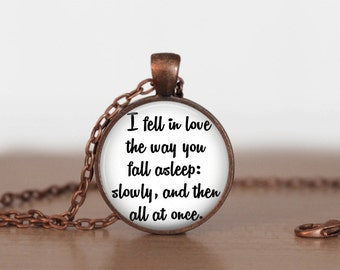 The Fault in Our Stars Constellations Quote Pendant Necklace or Keychain
