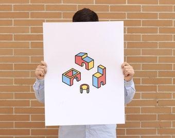 Serigraphy ' Buildings #1 '