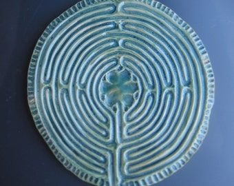 Chartres Finger Tracing Labyrinth-Blue Green Ocean