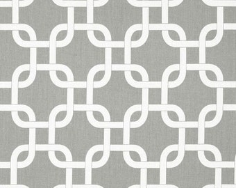 SALE Grey Geometric Fabric by the YARD Gotcha storm twill Premier Prints Home Decor curtains pillows upholstery drapes - SHIPS Fast