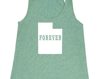 Utah Forever Tank Top. Women's Tri Blend Racerback Tank Top SEEMBO