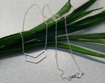 925 Silver Chevron Chain Necklace, Sterling Silver Necklace, Sterling Silver Jewelry, Accessories ST006