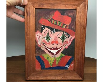 Crazy Clown Painting - 1956