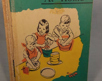 Vintage-1960-At Home-First Pre-Primer-Reading Book