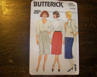 Butterick Pattern - 3427 - Misses' Skirt - Size (6-8-10) - Fast & Easy