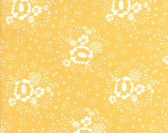 Pepper & Flax - Gold Queen Anne's Lace Fabric - Corey Yoder - Moda Fabric - Sold by Half Yard