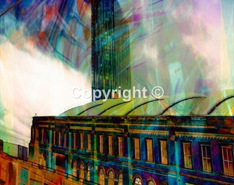 View from the Rochdale to Didsbury Tram Manchester - Print Run of 100