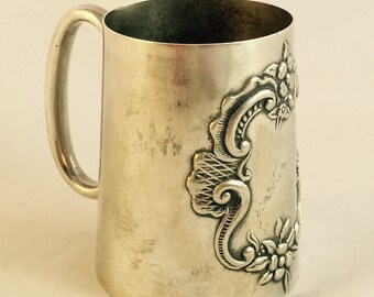 English Silver Plate Christening Cup