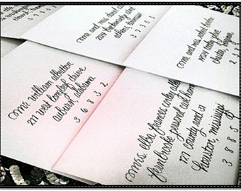 Lowercase Envelope Calligraphy Addressing for Weddings and other Occasions - Lowercase Elegance Script.