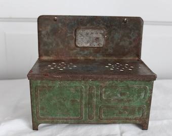 Little Orphan Annie toy stove pressed steel vintage