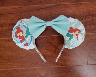 Little Mermaid Disney Inspired Minnie Mouse Ears