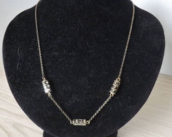 CRYSTAL and STERLING NECKLACE