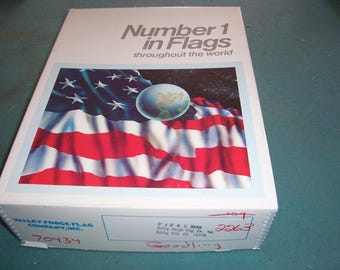 Vintage Flag Flown Over the US Capitol Building...Flag Flown on 12/20/82...With Certificate..5'X8' Nylon Flag...