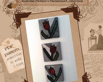 Tulip Wall Art PDF Pattern for Stained Glass