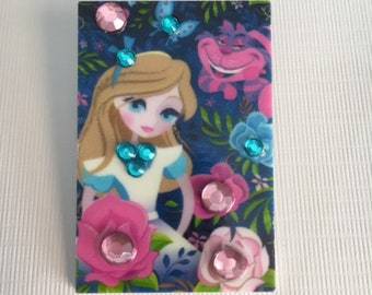 Alice in Wonderland inspired brooch pin