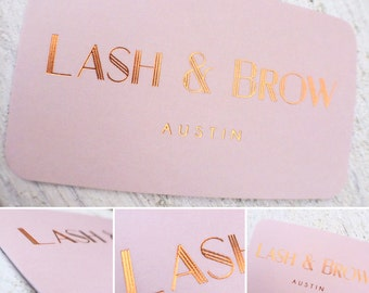 Business Cards with Copper Foil