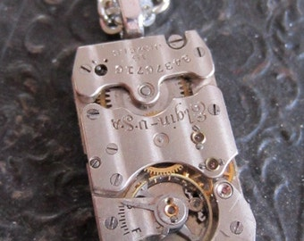 Watch part necklace - Bullet Proof - Steampunk Necklace - Repurposed Art