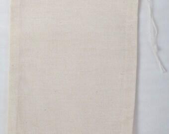 Made in USA 4 x 6 pouces (10 x 15 cm) sacs en mousseline 100 % coton
