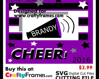 ITEM # CF-3690 - Cheer Purple Black White School Spirit - SVG Cutting Machine File - Instant Download - Commercial Use - 2.99
