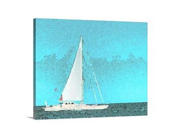 Sailboat Art, Nautical Decor, Sailing Picture, Sailboat Decor, Sailboat Picture, Sailing Photograph, Rhode Island Art, Sailor Gift