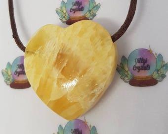 Aragonite Crystal Necklace, Aragonite Necklace, Loveheart Necklace, Heart necklace,  Crystal Necklace, Loveheart Necklace, Mothers Day Gift