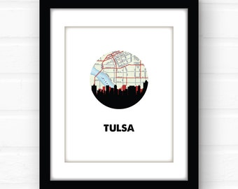 Tulsa, Oklahoma wall art | Tulsa skyline art | Oklahoma wall art | Oklahoma city skyline art | city skyline print | Oklahoma print