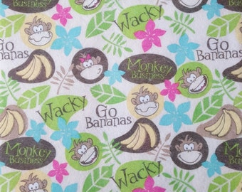 "Printed Felt Rectangle: Go Bananas (9""x12"")"
