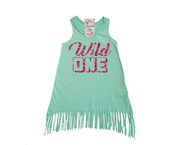 Wild One, 1st Birthday, Birthday Dress, Girls Fringe Dress, Little Girls Dress, Girls Beach Dress, Toddler Dress, Infant Dress, Baby Dress